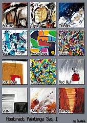 Sims 3 decor, paintings, abstract