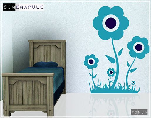 Sims 3 walls, stickers, decors
