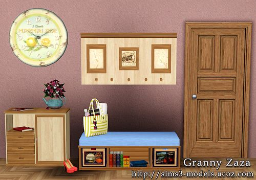 Sims 3 hallway, furniture, objects, decor