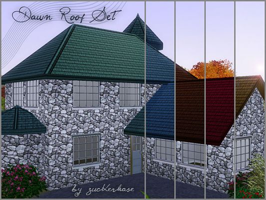 Sims 3 roof, build, objects