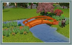 Sims 3 deco, decorative, bridge, garden, outdoor