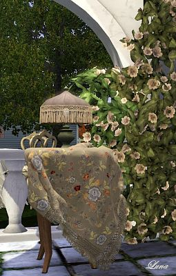 Sims 3 table, decor, tablecloths, objects