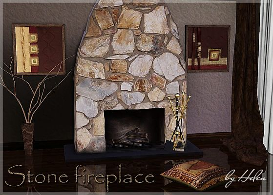 Sims 3 fireplace, build, object