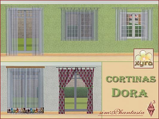 Sims 3 curtains, objects, decor