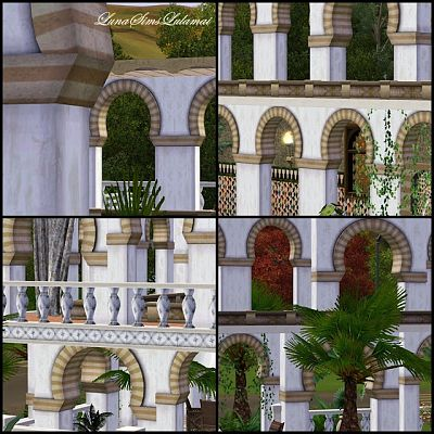 Sims 3 arch, arches, build, columns, arhitecture