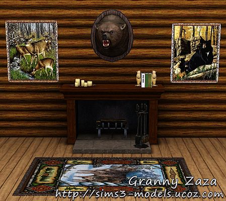 Sims 3 hunt, hunting, trophy, paintings, decor