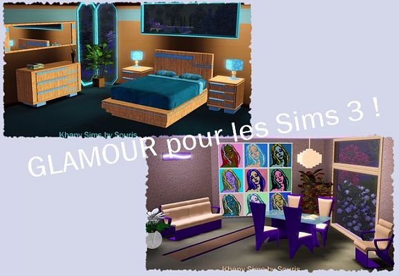 Sims 3 bed, bedroom, furniture, objects, set, dinning