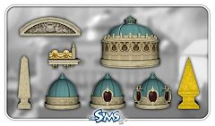 Sims 3 build, objects, arches, roofs