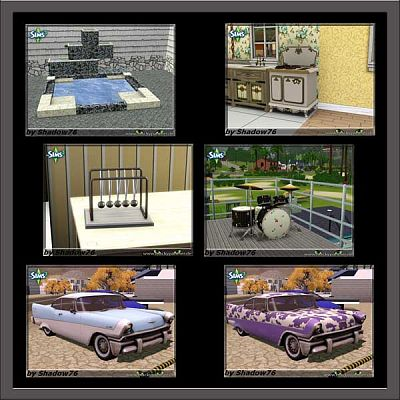 Sims 3 car, objects, decor