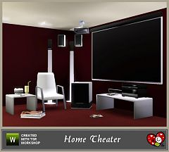 Sims 3 tv, home theatre, set, livingroom, electronics, objects
