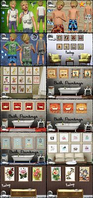 Sims 3 paint, paintings, decor, objects, decorations, clothing