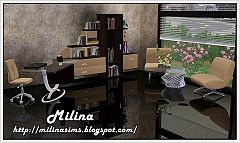 Sims 3 study, room, furniture, objects, decor