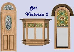 Sims 3 windows, doors, build, arhitecture, set, victoria
