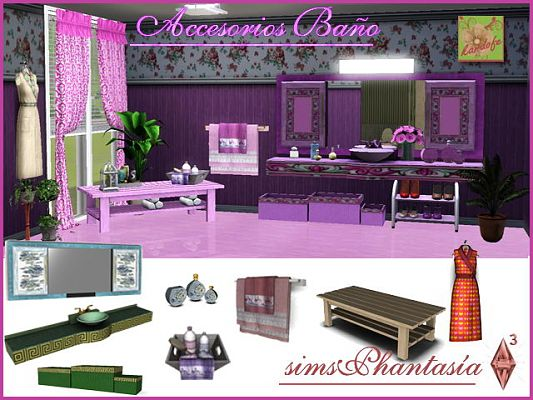 Sims 3 bath, bathroom, set, room, objects, accessories