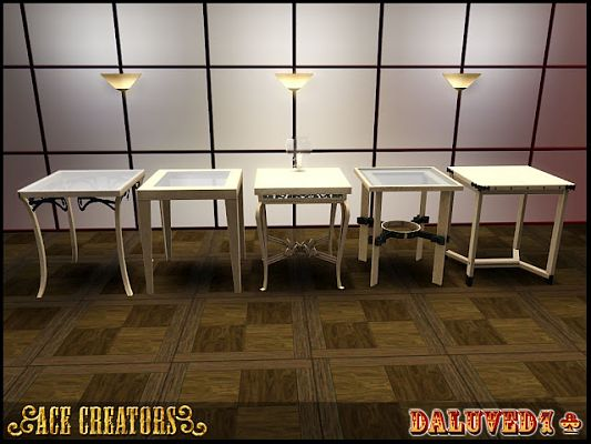 Sims 3 table, furniture, glass, set