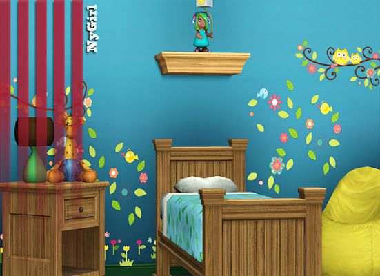 Sims 3 wall, decor, kids, decal