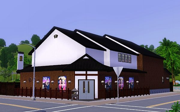 Sims 3 lot, community, theater