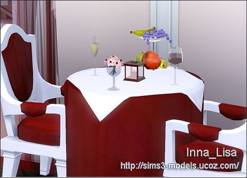 Sims 3 tablecloth, decor, objects, lamp