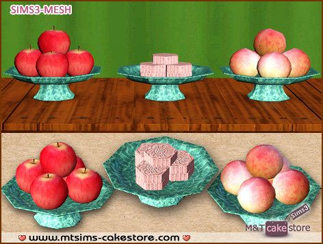 Sims 3 fruit, objects, decor, tray