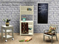 Sims 3 set, decor, food