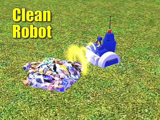 Sims 3 robot, cleaning