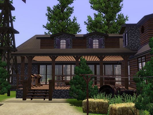Sims 3 ranch, house, lot, residentil