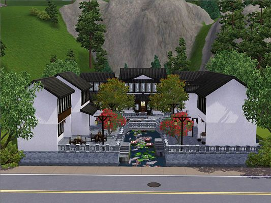 Sims 3 house, lot, residential, chinese