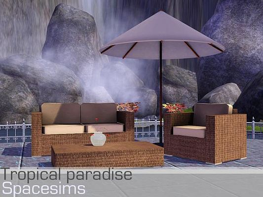 Sims 3 outdoor, set, furniture, garden