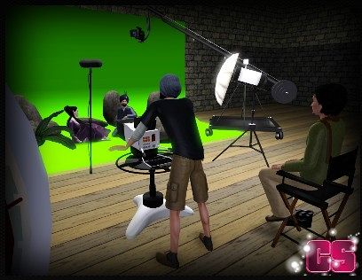 Sims 3 film, set, movie, camera, microphone, chair