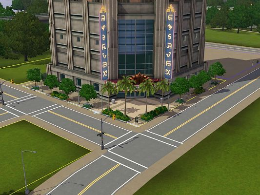 Sims 3 house, lot, community, theatre