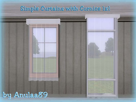Sims 3 curtain, cornices, decor, objects