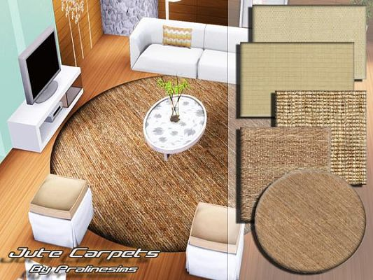 Sims 3 rug, rugs, decor, objects, jute