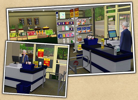 Sims 3 grocery, furniture, objects, decor