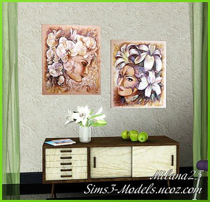 Sims 3 paint, paintings, decor, objects, decorations