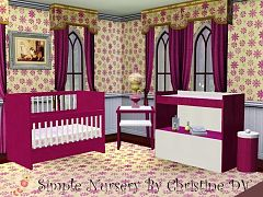Sims 3 crib, changer, table, nursery, kids, furniture, objects