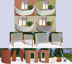 Sims 3 window, build, doors
