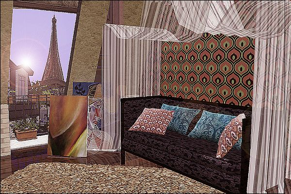 Sims 3 living, livingroom, set, furniture, sofa