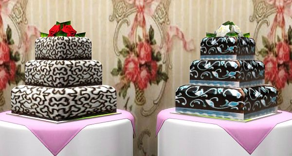 Sims 3 cakes, food, decor, objects