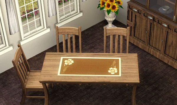 Sims 3 set, objects, decor, table, furniture
