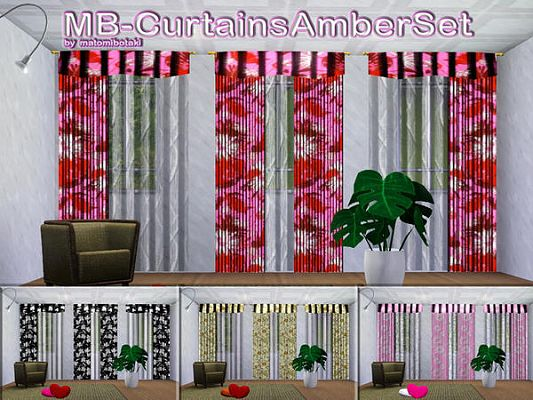 Sims 3 decor, object, curtain, set