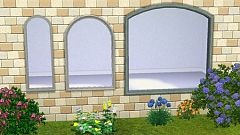 Sims 3 wall, decor, decoration, wave, windows