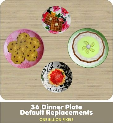 Sims 3 plate, decor, objects, kitchen, dinner