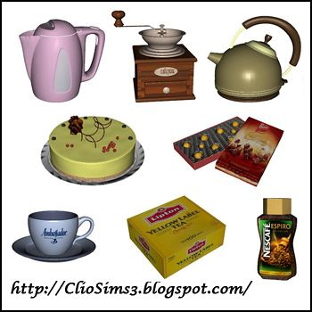 Sims 3 decor, kitchen, objects
