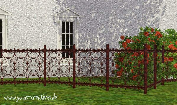 Sims 3 fence, iron, build, set, gothik