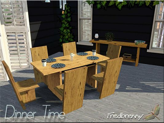Sims 3 dinning, dinningroom, furniture, set, outdoor