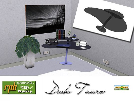 Sims 3 desk, furniture, study, object