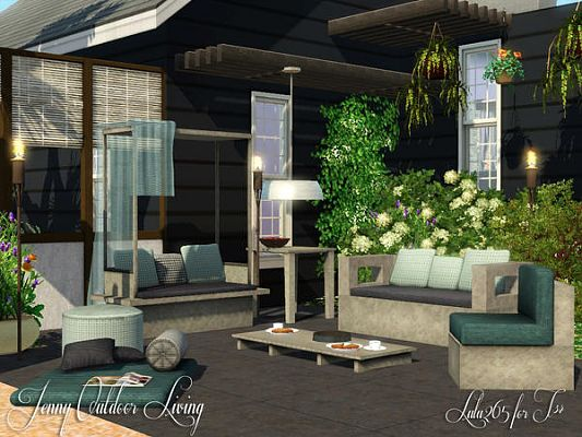 Sims 3 gardin, set, outdoor, furniture