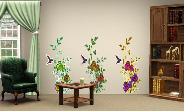Sims 3 wall, decor, decoration, wallpaper