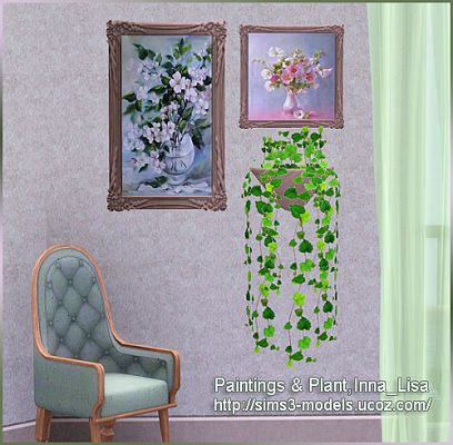 Sims 3 plant, decor, objects, paintings