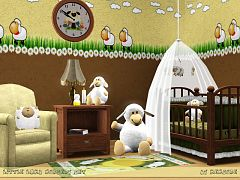 Sims 3 objects, decor, nursery, set, furniture